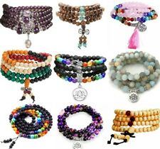 More details for mala beads bracelet necklace chakra buddhist prayer meditation rosary crystal uk