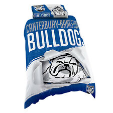 Canterbury Bulldogs NRL SINGLE Bed Quilt Doona Duvet Cover Set *NEW 2018* GIFT