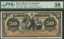 Mexico-Tamaulipas 50 Pesos Banknote 1914 Choice About Uncirculated Cat#S-432-R
