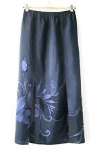 Vintage sz M 10 12 Front Split Panel Maxi Skirt