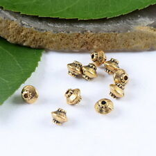 60pcs dark gold-tone pulley shape spacer beads h1858