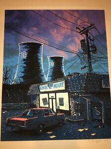 Simpsons Night Falls On The SNPP Tim Doyle Art Print Free Ship US