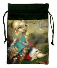 Alice and the Bosch Birds Jasmine Becket-Griffith. Drawstring Bag, Silk 18x26cm,