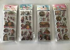 10 x MASHA AND THE BEAR  Sticker strips for Party Bag Fillers Birthday, favours