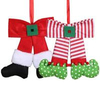 Christmas Tree Bow Hanging Ornament Xmas Elf Doll Party Pendant Decoration