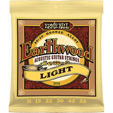 Ernie Ball 2004 Earthwood Bronze Light Acoustic Guitar Strings 11-52 1 Set