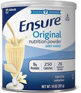 Ensure Original Nutrition Powder 9g Protein Per Serving, Vanilla, 14 oz (397g)