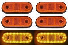 6x LED 24v LATERAL NARANJA Luces de marcaje CAMIÓN TRAILER Bus Caravana Chasis