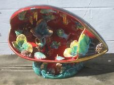 Vallauris grande lampe veilleuse coquillage en céramique