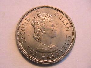 1970 Hong Kong China Dollar BU Unc Lustrous British Asia Queen Elizabeth II Coin