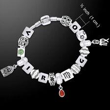 Virgo Astrology Bead .925 Sterling Silver Bracelet Peter Stone