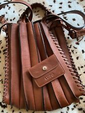 LUPO Barcelona Abanico BAG BACKPACK Pleated Leather Excellent Condition Brown