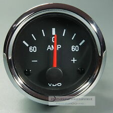 VDO  AMPEREMETER  * CHROME EDITION *  GAUGE 60A  Cockpit international