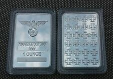 1 oz German Silver Iron Cross Bar (rare)   W/ AIR TIGHT CASE - LOWEST PRICE-