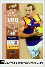 2013 Select AFL Champions Milestone Holofoil Card MG77 Shannon Hurn (West Coast)