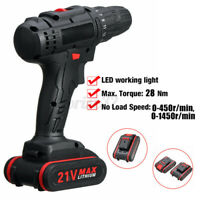Portable Cordless Drill Li-Ion Electric Driver Kit Tool Repair Set Household