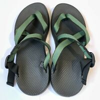 VIBRAM Chaco Men'S Syhthetic Uppers Rubber Out Soles Green Sandal Size W10