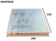 WESFIL CABIN FILTER FOR Mazda 6  2.0L TDi, 2.2L TDi 2006-11/12 WACF0018