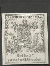 Venezuela Revenue On Laid Paper MOG (8csy)