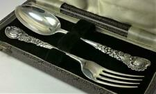 Victorian Antique Solid Silver Spoons