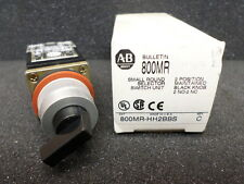 Allen Bradley 800MR-112BBS Small Round 2 Position Selector Switch