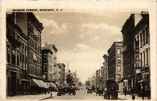PC CPA US, NJ, HOBOKEN, HUDSON STREET1927, VINTAGE REAL PHOTO POSTCARD (b6759)