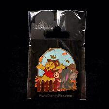 Hkdl Winnie the Pooh Eeyore Piglet Seasons Version Fall Autumn Leaves Disney Pin
