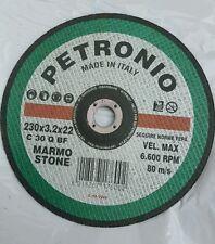 DISCO MOLA da taglio Marmo  230X3.2x22  Nr. 2 pezzi