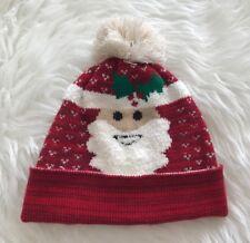 Burton Menswear Rojo Navidad De punto Bobble Sombrero Festivo Santa Invierno Navidad Nuevo