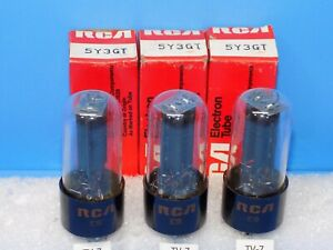 SET OF 3 RCA 5Y3GT TUBES SAME DATE ALL TESTED
