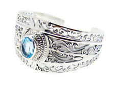 Blue 925 Sterling Silver genuine ideal Blue Topaz jaipur Bracelet AU gift