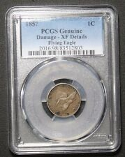 1857 Flying Eagle Cent PCGS XF Details Damage *EXTRA FINE*