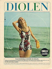 PUBLICITE ADVERTISING 094  1965  DIOLEN  mailot de bain LINDA LU