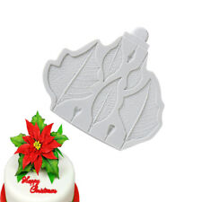 Leaf Print Impression Textured Flower Silicone Mould Baking Embosser J