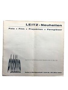 Leitz-Neuheiten zur Photokina 1963 - Prospekt 12 Seiten von II/63