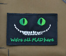 "Ricamata / Embroidered Patch ""We're all MAD here - PJ"" with VELCRO® brand hook"