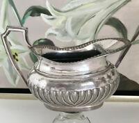 Queen Anne Cream Kanne Britannia Metall versilbert Rosenvase Victorian antik