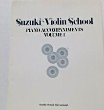 Suzuki Violin School Piano Accompaniments Volume 1 Dr. Shinichi Suzuki 1970
