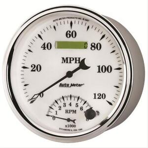Autometer 1292 Old Tyme White II Analog Gauge Electric Voltmeter 2 1/16in.