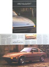 Mazda RX-7 Rotary 1982 Original USA Sales Brochure Pub. No. 9999-92-0101-82