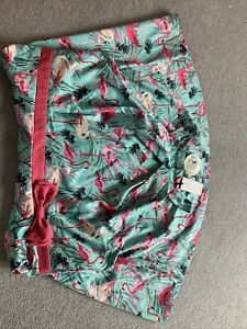 Vintage Lindy Bop Mint Green Pink Flamingo Dress Size 26UK Brand new
