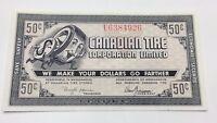 1962 Canadian Tire Fifty 50 Cents CTC-7-J-U Paper Money Bonus Banknote C927