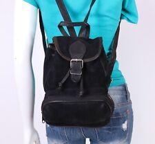 BARGANZA INDIA Small Black Suede Leather Shoulder Hobo Tote Back Pack Purse Bag