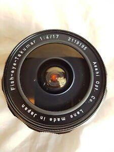Fisheye-Takumar 17mm f4 in M42 Mount.