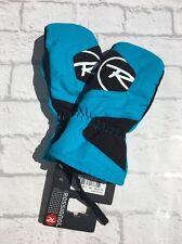 Rossignol Boys Waterproof Skiing Mittens Blue/black Size 16