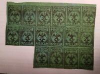 Mexico Revenue DU6 1/4 cent (16) R$30 hinges on 5 stamps