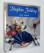 Napkin Folding by Linda Barker (Hardback, 1993)