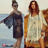 New Womens Hippie Boho Beachwear Bikini Beach Wear Cover Up Ladies Summer Dress