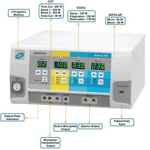 Advance Electro Generator Electro surgical Cautery 300W Cautery Digital Machine
