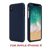 Genuine Mercury Goospery Soft Feeling Jelly Case Matt Rubber For iPhone X Blue